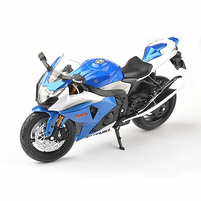 1/12 Blue SUZUKI GSX-R Racing Motorcycle Model Motorbike Display Toys