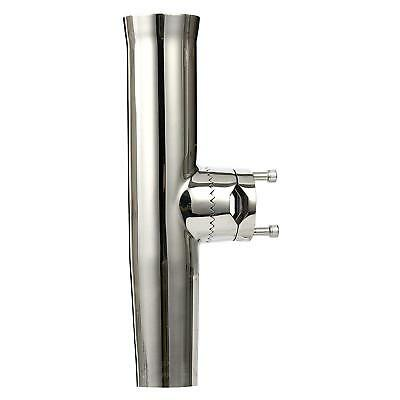 """Stainless Tournament Style Clamp on Fishing Rod Holder for Rails 7/8"""" to 1"""" New"""