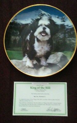 Danbury Mint Shih tzu collector plate King of the hill