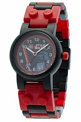 LEGO Star Wars Darth Vader Kids Buildable Watch with Link Bracelet and Minifigur