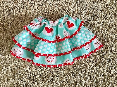 Jelly The Pug Toddler Girls Ruffle Skirt. Size 4T