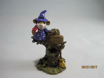 Wee Forest Folk Halloween Settin' a Spell Purple Gown - Retired in WFF Box