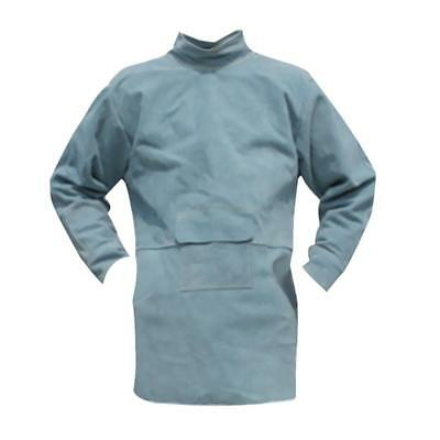 Welding Coat Protective Apron Welder Clothing Cowhide Leather Safety