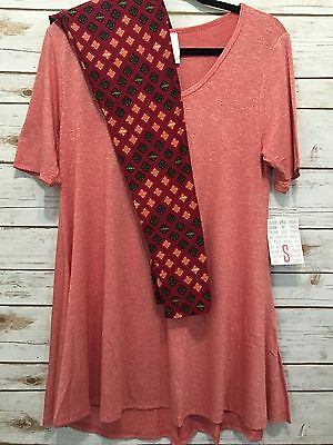 NWT LuLaRoe S Small Perfect T Solid Pink Heathered & OS Leggings Outfit NEW
