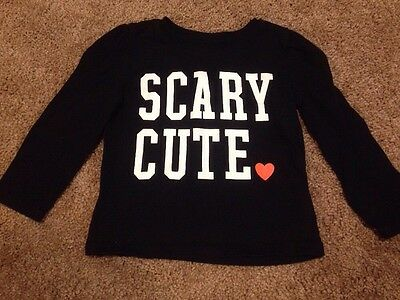 Old Navy Girls Shirt Size 12-18 Months Clothes Scary Cute Long Sleeve Top