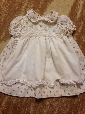 Vintage Baby Girls Dress Size 18 Months Polly Flinders Hand Smocked