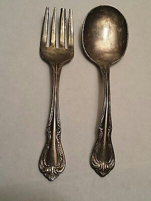 Wm. A. Rogers Baby Spoon and Fork silver plate