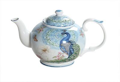 New Fine Bone China Peacock Teapot 1L w Gift Box Home Décor Birthday Xmas Gift