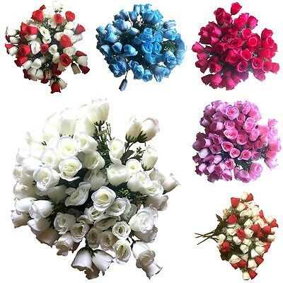 5x 21 Heads Rose Bunch Artificial Flower Plant Bouquet Home Wedding Party Decor