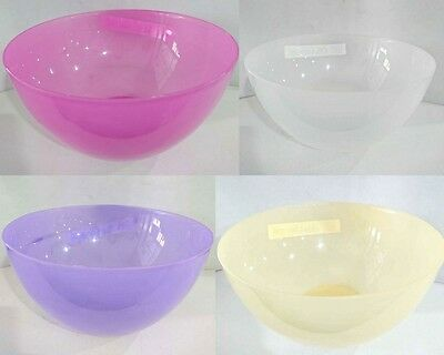 4x Salad and Fruit Bowl Plastic Bowl Salad Server Kitchenware Mixing Salad Bowl