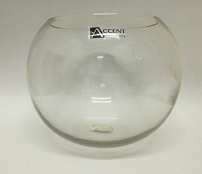 Fish Bowl 25x25cm Clear Glass Rose Bowl Pet Vase Dispaly Flower Party Home Decor