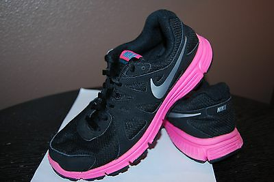Nike Revolution 2 Girls Athletic Shoes - Size 5.5 Y - Black with Pink