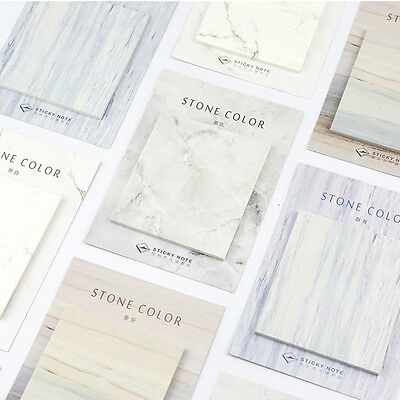 Cute Marble Stone Color Self-Adhesive Memo Pad Sticky Note Page Marker Planner