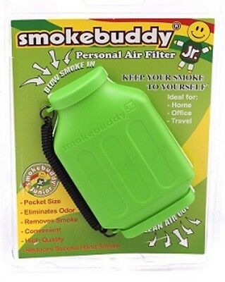 Lime Smoke Buddy JR. Personal Smoking Air Purifier Charcoal Filter SmokeBuddy