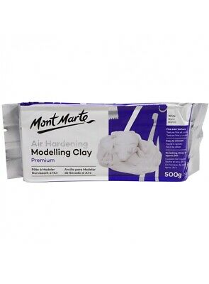Mont Marte Air Hardening Modelling Clay White 500G Wholesale Craft Arts Supply