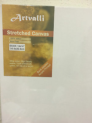 "6 Artist Thick Stretched Blank Canvas 14""X14"" /35X35cm Square Canvas Crafts Art"