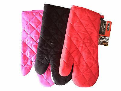 2x Oven Mitt Heat Proof Resistant Protector Kitchen Cook Pot Holder Oven Gloves