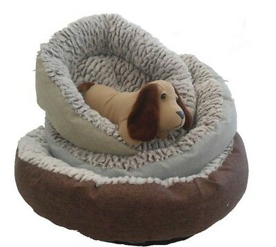 NEW 1pc Comfy Round Pet Bed Dog Cat Washable Soft Cushion Mattress Pet Bed 2Size