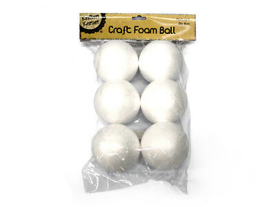 24x White Polystyrene Styrofoam Foam Ball Craft Millinery DIY Bulk Sale Dia 8cm
