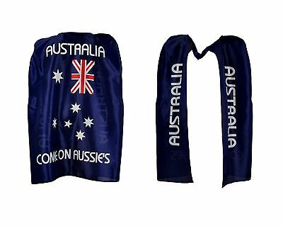 Aussie Australian Flag Cape Wrap Australia Day  Costume Fancy Dress Up