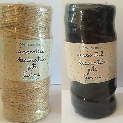 90Meters Thick Cotton Twine Decorative Jute Twines Strings Wedding Party Craft