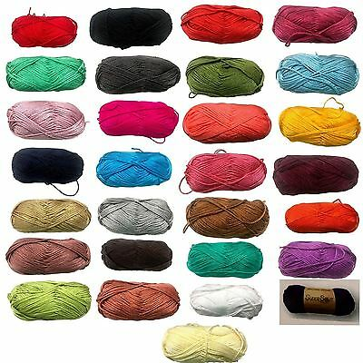 5x100g Knitting Yarn Plain Colours Super Soft 8Ply Knitting Wool 100% Acylic