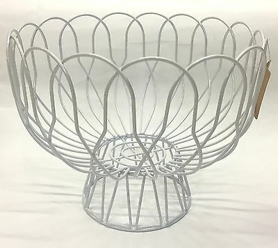 New Fruit Bowl White Metal Fresh Fruit Vegetable Holder Fruit Basket Home Décor