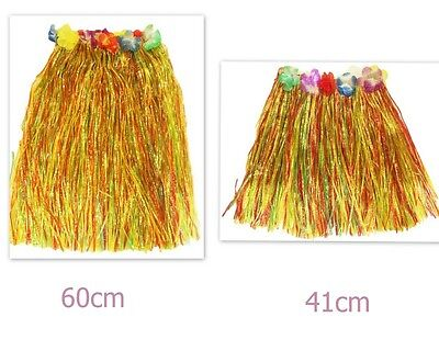 Adult Hawaiian Costume Tropical Dress Hula Luau Leis Skirt Grass Party Dress Up