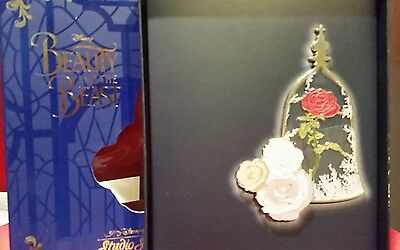 Disney Beauty and the Beast Enchanted Rose Stain Glass Pin le 150