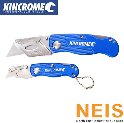 Kincrome Folding Utility Knife Lock Back 150mm w/ 10 extra blades w/case k06001