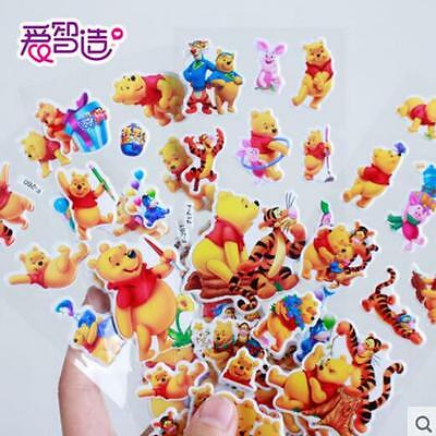 New 5 Sheets Winnie The Pooh Stereoscopic 3D Bubble Stickers Lot  Toys Kids Gift