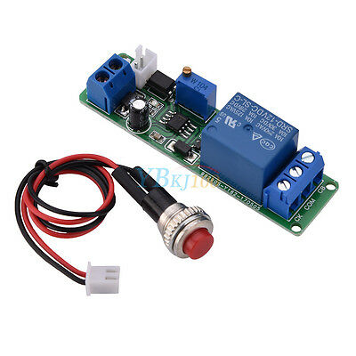 DC12V Adjustable Delay Timer Time Module Turn OFF Relay Switch 1~10s Trigger yfq