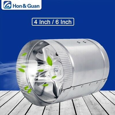 """4"""" 6"""" Inch Inline Duct Booster Fan Ventilation Exhaust Air Blower Free shipping"""