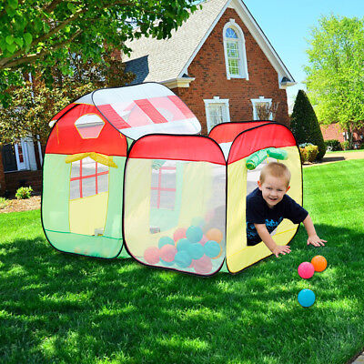 2 in 1 bambini Pop-up Play Tenda Playhouse Portatile 2 camere con Marine Balls