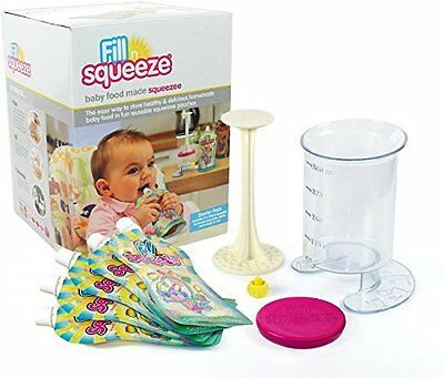 Fill n Squeeze Weaning and feeding Pouch filling system with reusable pouches fo
