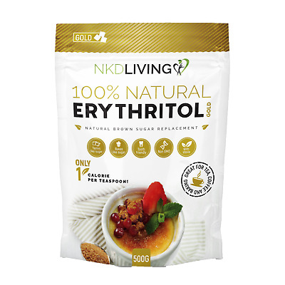 Erythritol GOLD 500g - Natural Brown Sugar Alternative with Stevia - 500g