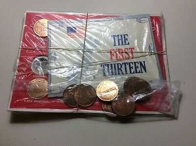 Franklin Mint 1969 Shell Oil States of the Union the first 13 cardboard display