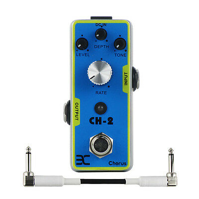 Chorus CH-2 Guitar Effect Pedal Mini Style Metal Shell with True Bypass Design