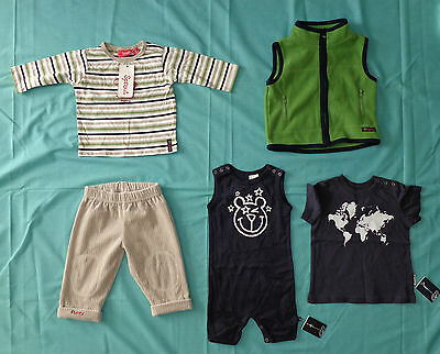 Sprout, Fred Bare, Vest, Pants, Top, T-Shirt, Fawn/green/navy, Size 00.