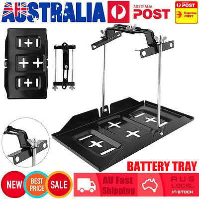 Car Battery Tray Hold Down Kit Dual Deep Cycle Universal Tool 135-190Mm Au Stock