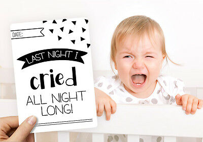 Novelty Baby Moments and Milestones Cards- 16 pack Monochrome. New and Sealed.