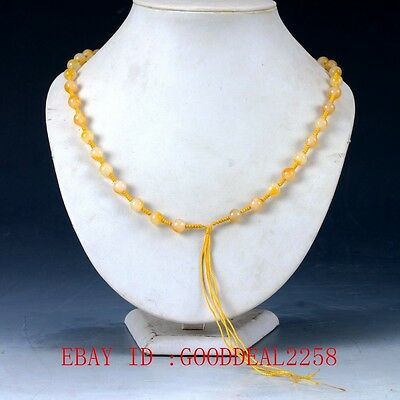 100% Natural Jade Hand-carved Bead Decoration Necklace XL042
