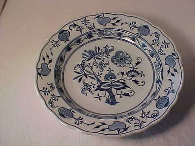 Meissen Blue Onion Large Rim Soup Bowl Oval Backstamp