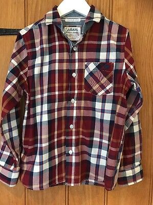 J Jeans Lovely Boys Checked Shirt Age 9yrs 100% Cotton