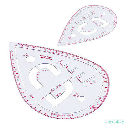 Useful Drawing Tailor Ruler Curve Yardstick Sewing Accessory Water Drop Shape