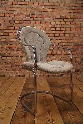 Space Age Design Cantilever Chrome Chair Lounge Chair 70er Vintage Mid Century