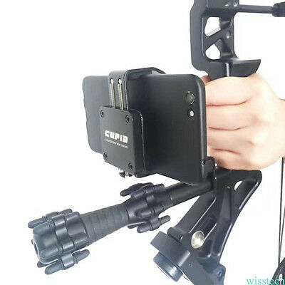 New Black Aluminum Bow  Phone Holder for Recurve Compound Archery Accessories