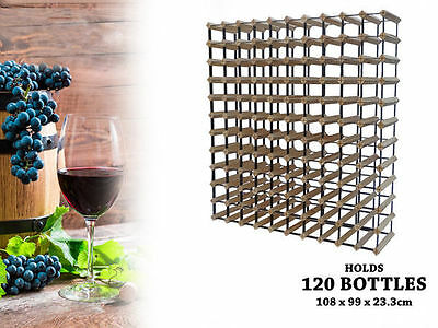 WA Stock 1 wooden wine rack holds 120 bottles natural wood colour