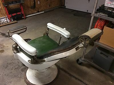 RARE Antique 1930's Emil J. Paidar Company Chicago Barber Chair Collector