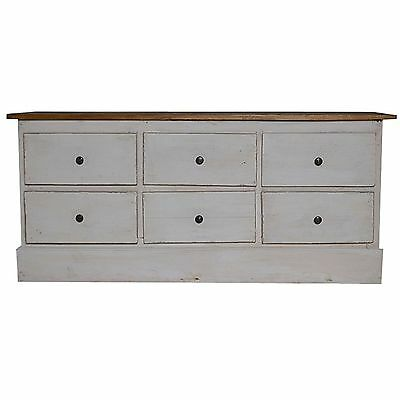 Antique Wood Sideboard Cabinet Chest Of Drawers Rustic Distressed Country Style